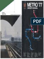 Metro '77 Owner's Manual