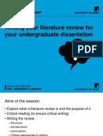 Literaturereview Skills PowerPoint