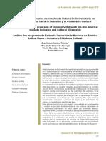 Análisis de programas nacionales de Extensión Universitaria en América Latina