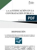 La Justificacion de La Contratacion Publica