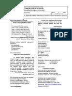 AVALIAÇÃO DE LÍNGUA PORTUGUESA - 5º ANO - 1º BIMESTRE