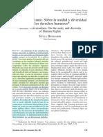 [Paper] BENHABIB, Seyla. Otro Universalismo_Sobre La Unidad y Diversidade Los Derechos Humanos