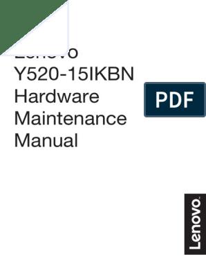 Lenovo Y520-15IKBN Hardware Maintenance Manual | Electrostatic