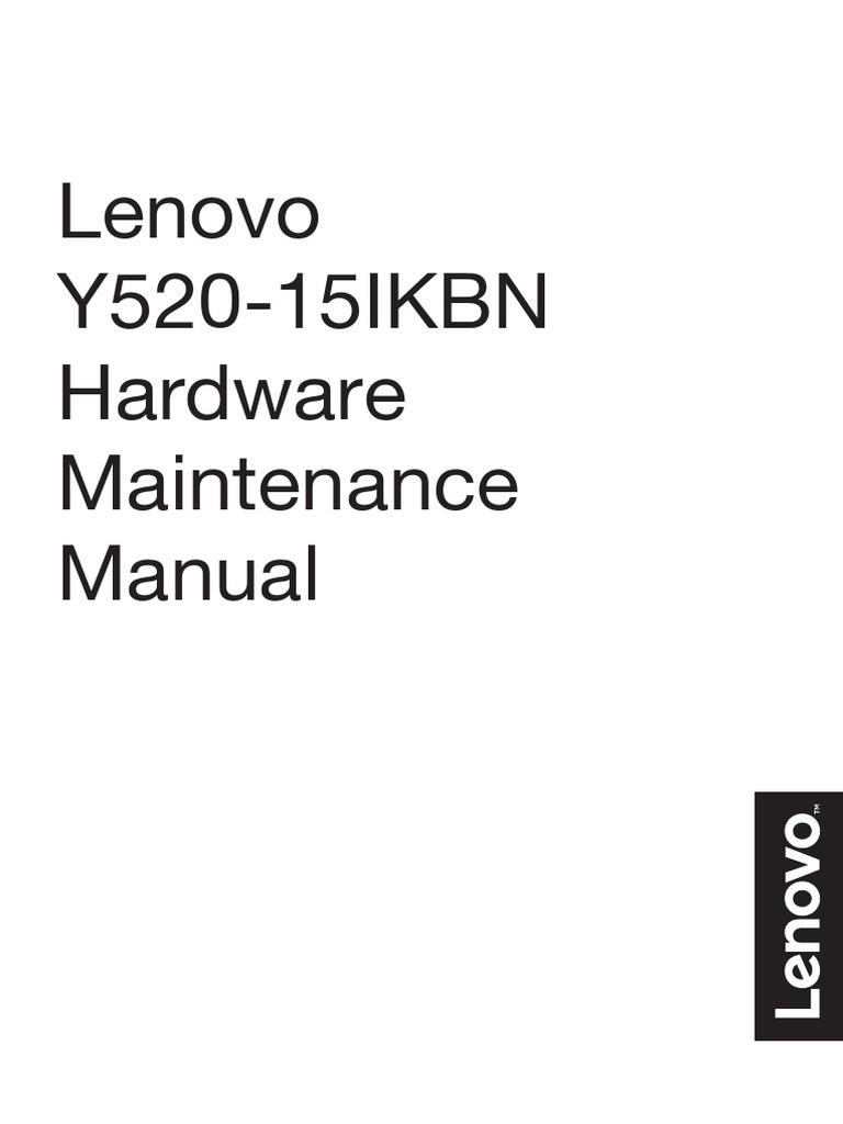 Lenovo Y520-15IKBN Hardware Maintenance Manual