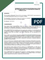 MEMORÁNDUM DE ENTENDIMIENTO DE COOPERACION INTERNACIONAL ENTRE EL MERCOSUR Y LA CORPORACION ANDINA DE FOMENTO