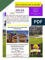 Miles Alumni Newsletter July 19 2017