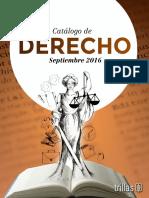 Catalogo Derecho Sept 2016