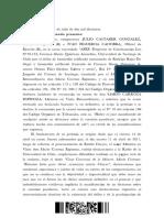 RECUSACION QUEMADOS CARROZA