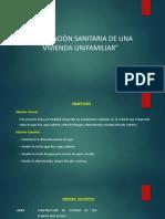 INSTALACION SANITARIA DE UNA VIVIENDA UNIFAMILIAR