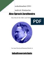 Nietzsche - Also Sprach Zarathustra (Geschichtsarbeit)
