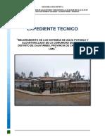 Memoria Descriptiva - de proyecto de saneamiento de Utcas
