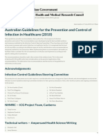 Australian Guidelines for the Prevention and Control of Infection in Healthcare (2010) - 28-Aug-2013