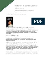 Tema 1 Introducción Al Concilio Vaticano II