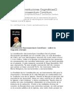 Tema 4 Constituciones Dogmáticas– Parte II Sacrosanctum Concilium