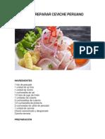 Cómo Preparar Ceviche Peruano