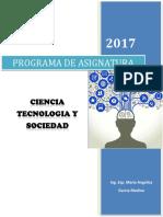 Programa de Asignatura Ciencia, Tecnologia y Sociedad