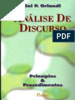 Orlandi - análise do discurso - príncipios _ procedimentos