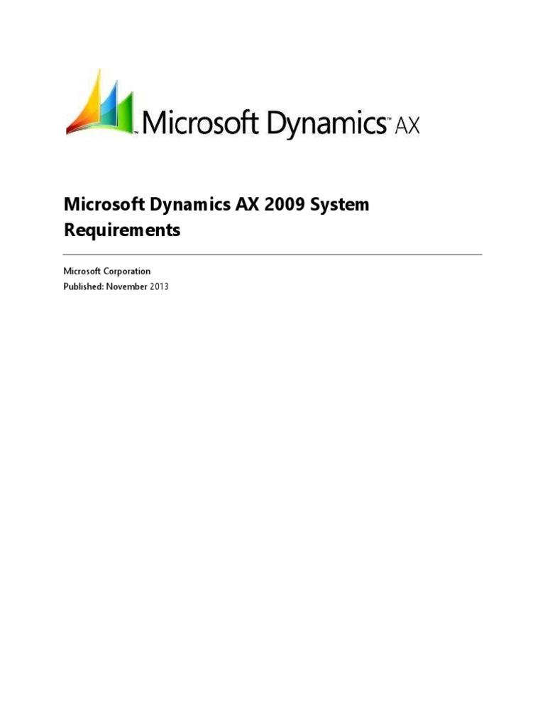 ax2009 requerimientos