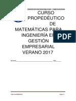 Pensamiento Matematico 2017-Alumno
