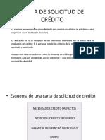 Carta de Solicitud de Crédito