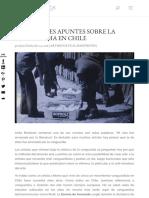 UNOS BREVES APUNTES SOBRE LA VANGUARDIA EN CHILE | Artishock Revista