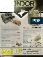 U.S. Cavalry's Condor Tactical Gear August 2010 Promotion