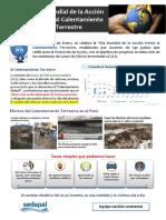 2. Día Mundial de La Acción Frente Al Calentamiento Terrestre - 28 de Enero