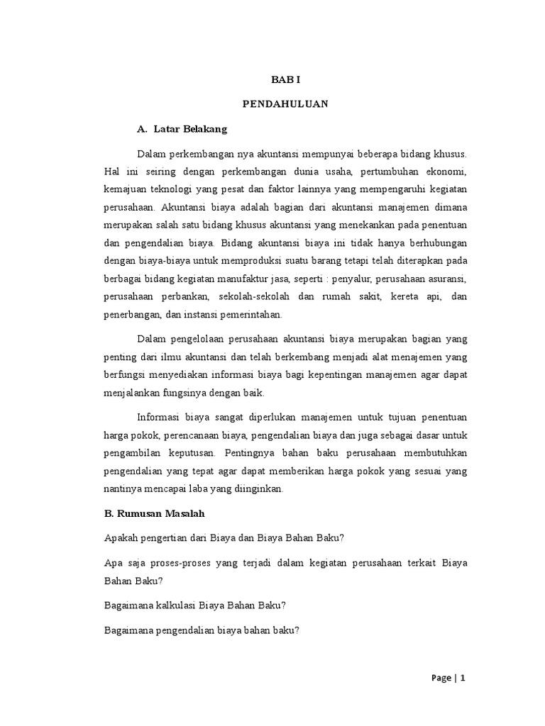 Makalah Akbi Print Biaya Bahan Baku