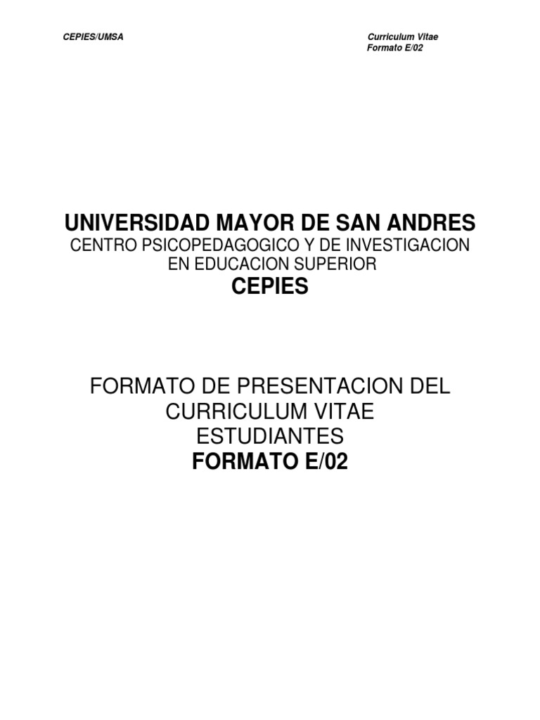 Formato e02 Estudiantes Curriculum