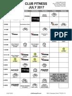July 2017 Schedule