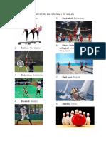 25 Deportes en Español y en Ingles