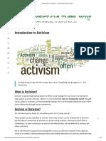 Introduction to Activism - Permanent Culture Now