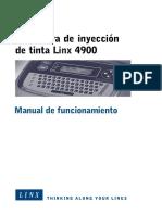 Linx 4900 Op Manual_ES.book - Sistemas de Impresion y Aplicación de ...