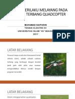Analisa Perilaku Melayang Pada Wahana Terbang Quadcopter