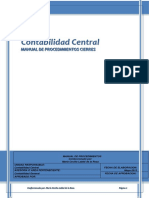 Manual de Procedimientocontabilidad Central