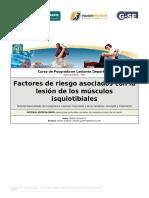 C-2 Factores de Riesgo Asociados Con La Lesión de Los Músculos Isquiotibiale