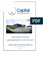 Final Scoping Application Submission Advanced Waste Management for the Act