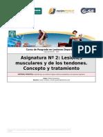 1 Lesiones Musculares y Tendones, Concepto y Tratamiento