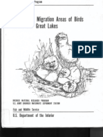 Nesting and Migration Areas of Birds US Great Lakes 1979