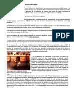 Destilación y Tipos de Destilación