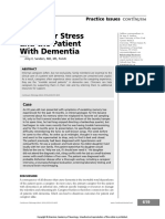 Caregiver Stress and the Patient With Dementia Continuum 2016