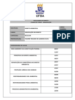 Plano de Aula Curso Regular Ambiental UFBA