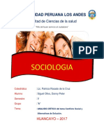 Tarea - Conflicto Social y Alternativa de Solucion