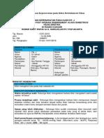 Presentasi Kasus Asuhan Keperawatan Pada Klien Debridement Ulkus Diabetikus