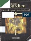 Bourdieu Pierre Campo de Poder Campo Intelectual
