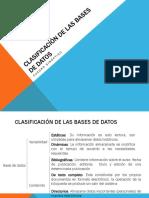2. Clasificación de Las Bases de Datos