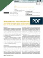 Rehabilitación Implantoprotésica en el paciente oncológico