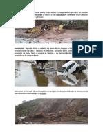 Huayco - Inundación - Derrumbe