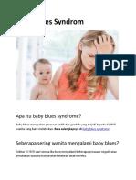 Makalah Baby Blues Syndrom PDF