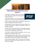Regras Conservar Livros - Versao Final